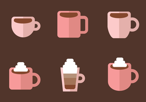 Gratis kaffe vektor