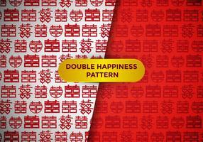 Doppel-Glück-Muster-Vektor vektor