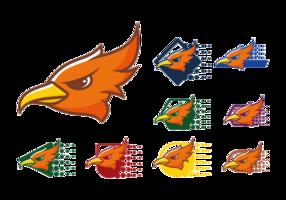 Roadrunner-Logo-Icons vektor