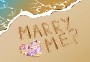 Gifta mig förslagsförslag på stranden vektor