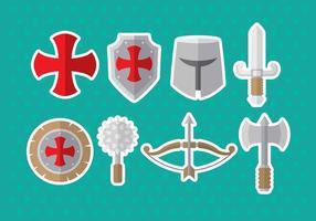 Templar ikoner vektor
