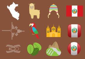 Peru ikoner vektor