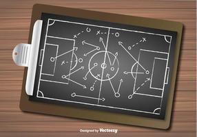 Vektor av fotbollsplan