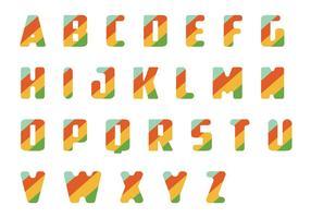 Gestreiftes Letras Vektor Pack