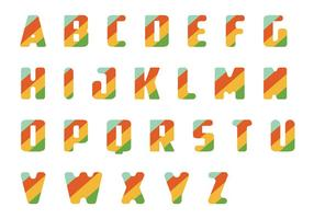 Randig letras vektorpack vektor