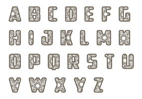 Lace Letras Vektor Pack