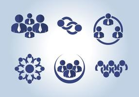 Gemeinsam arbeiten Icons Vector