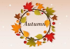 Free Herbst Vektor Kranz Illustration