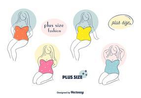 Plus storlek kvinna vektor