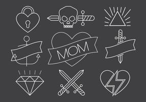 Kostenlose Vektor Tattoos