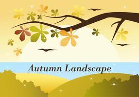 Freie Herbst Vektor Landschaft