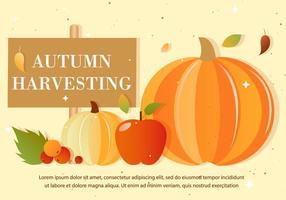 Freie Herbst-Vektor-Ernte