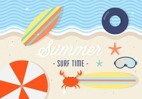 Free Summer Surfing Vektor Hintergrund