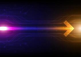 abstrakter Hintergrund der leuchtenden Pfeiltechnologie