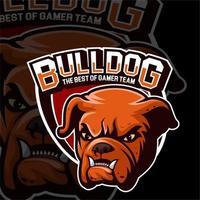 Bulldogge Kopf Vorlage Logo