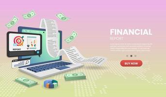 Finanzbericht am Computer