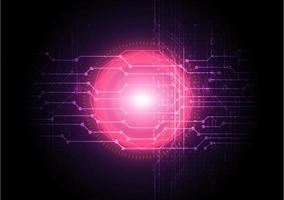 abstrakt digital nätverksteknologibakgrund med rosa glöd vektor