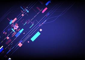 abstrakter bunter digitaler Online-Kommunikationstechnologiehintergrund vektor