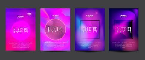 elektronisk dans flygblad