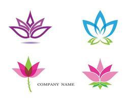 uppsättning av 4 lotus symboler