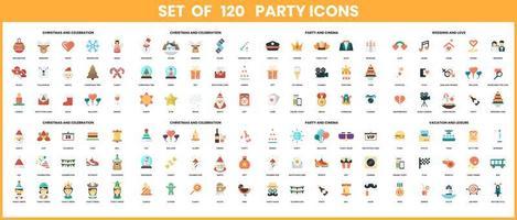 Party-Icons für das Geschäft eingestellt