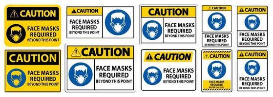 ansiktsmasker som krävs utöver denna punktteckenuppsättning
