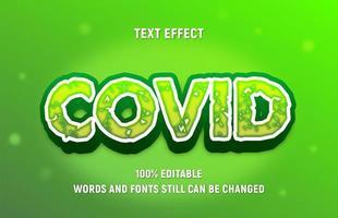 bearbeitbarer grüner Covid-Blocktext vektor