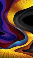 abstrakter Wellenstreifenhintergrund in der gelben und blauen Farbe vektor