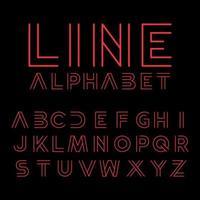 modernes Typografie-Linienalphabet vektor