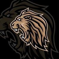 lejon huvud maskot logotyp