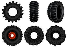 Freier Traktor-Reifen-Vektor vektor