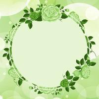 Hintergrunddesign mit grünem Blumenrahmen vektor