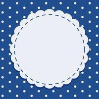 Hintergrundschablone in Blau mit rundem Rahmen