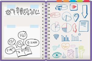 Notizbuch mit Kritzeleien vektor