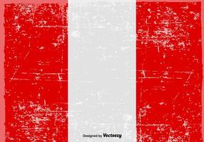 Vektor Grungy Peru Flagg Bakgrund