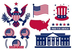 Freie Amerika Icons Vektor