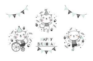 süße Kätzchen Katzen Charaktere Sammlung