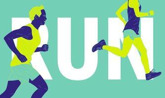 abstrakte Läufer und Text vektor