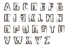 Grunge Letras Vektor Pack