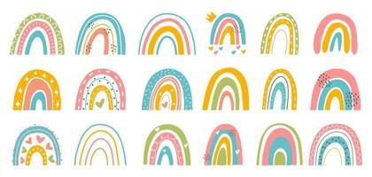 abstrakter Regenbogensatz