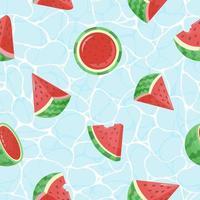 modernes nahtloses Muster mit Wassermelone