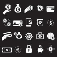Bündel von Wirtschafts- und Finanzikonen