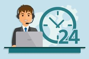call center service man