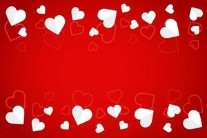 vitbok hjärtan och mönster banner