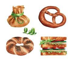 bageriprodukter från olika länder vektor