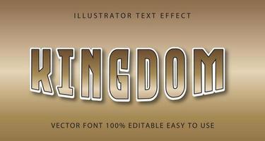 Kingdom tan bleknar texteffekt vektor