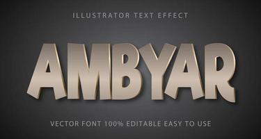silberner Ambyar glänzender Texteffekt vektor