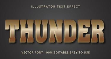 Tan Thunder Text-Effekt vektor