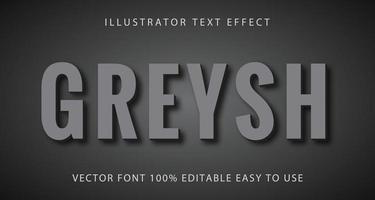 grå grå med skugga texteffekt vektor