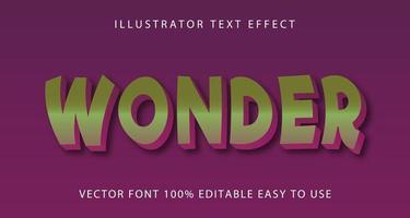 grüner, lila Wundertext-Effekt vektor